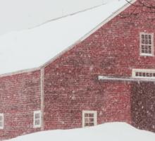 Winter Red Barn Sticker