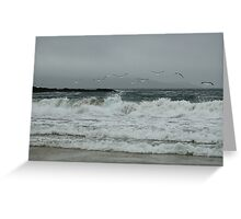 The rough grey sea Greeting Card