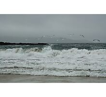 The rough grey sea Photographic Print