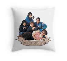 the breakfast club banner Throw Pillow