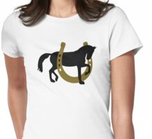 Horse horseshoe Womens Fitted T-Shirt