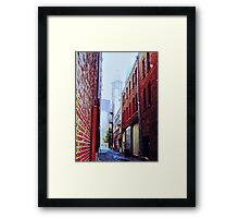 Seattle Alley Framed Print