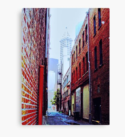 Seattle Alley Canvas Print