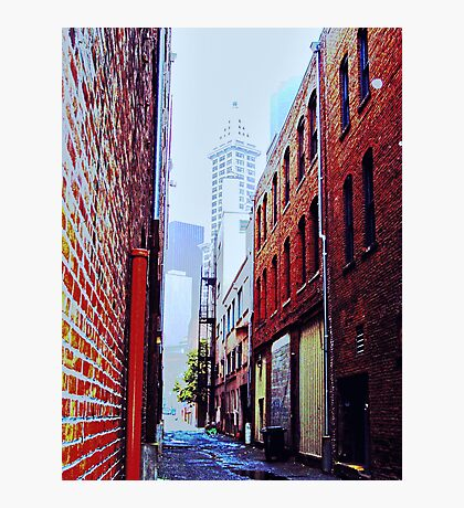 Seattle Alley Photographic Print
