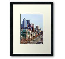 Seattle Alaskan Way  Framed Print