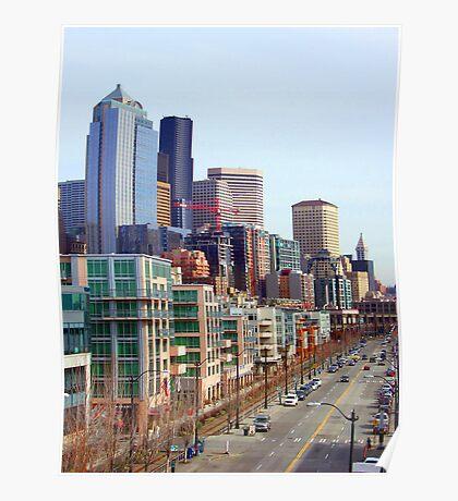 Seattle Alaskan Way  Poster