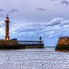 Whitby Lighthouses by Tom Gomez