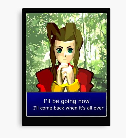 Aerith - I'll be going now Canvas Print