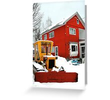Little house, Little tractor Greeting Card
