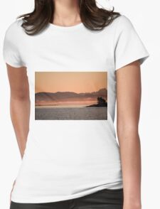 Sunrise on the bay Womens Fitted T-Shirt