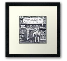 Book Girls Framed Print