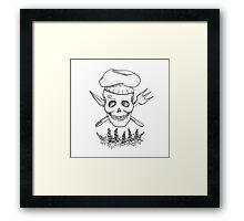 Realistic Jolly Roger- Sanji Framed Print