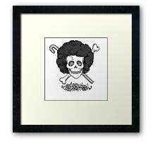 Realistic Jolly Roger- Brook Framed Print
