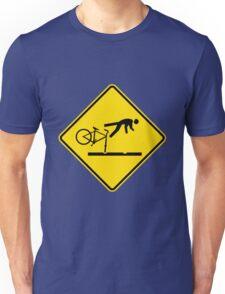 New Zealand- Cyclists Take Care on Rail Tracks Unisex T-Shirt