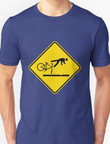 New Zealand- Cyclists Take Care on Rail Tracks T-Shirt