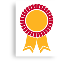 Rosette winners badge Canvas Print