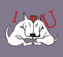 English Bull Terrier Valentines Day Design Kids Clothes