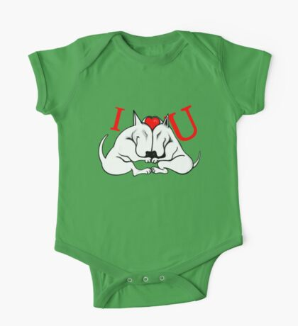 English Bull Terrier Valentines Day Design One Piece - Short Sleeve
