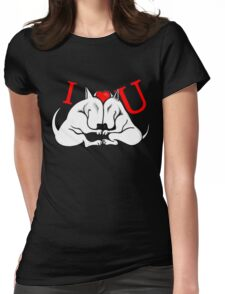 English Bull Terrier Valentines Day Design Womens Fitted T-Shirt
