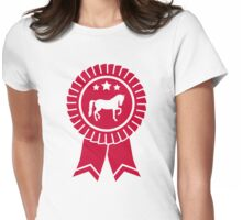 Horse dressage rosette ribbon Womens Fitted T-Shirt