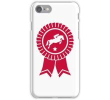 Horse show jumping rosette ribbon iPhone Case/Skin