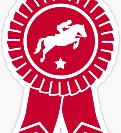 Horse show jumping rosette ribbon Sticker