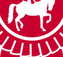 Horse vaulting ribbon winners badge Sticker