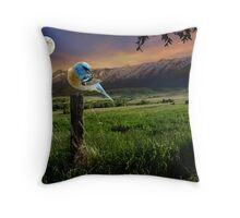 The Radiant Wellsville Mountains Throw Pillow