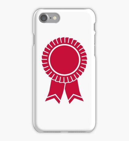 Red rosette winners badge iPhone Case/Skin