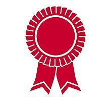 Red rosette winners badge Photographic Print
