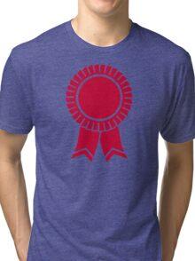 Red rosette winners badge Tri-blend T-Shirt