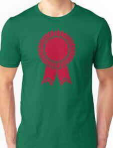 Red rosette winners badge Unisex T-Shirt