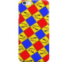 New Zealand- Cyclists Take Care on Rail Tracks 2 iPhone Case/Skin