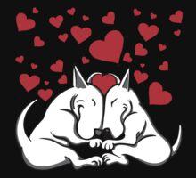 Bull Terriers In Love Kids Tee