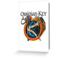 Obsidian Key - SLY Dragon - Progressive Rock Metal Music - (Epic Style) - FD Greeting Card