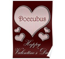 Doccubus Happy Valentines Day Poster