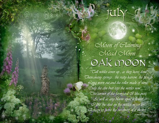 July : Oak Moon by Angie Latham