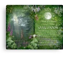 July : Oak Moon Canvas Print