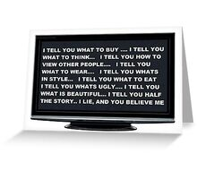 tele vision Greeting Card