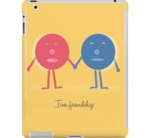 Friendship concept with cartoon character doodles iPad Case/Skin