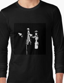 Psycho-Pass Pulp Fiction Crossover Long Sleeve T-Shirt