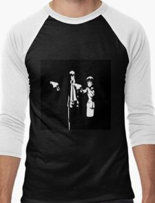 Psycho-Pass Pulp Fiction Crossover Men's Baseball ¾ T-Shirt