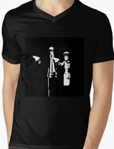 Psycho-Pass Pulp Fiction Crossover Mens V-Neck T-Shirt