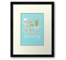 Catch Me If You Can - Fly, Fly Away Framed Print