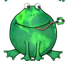 Think Green Frog For The Environment by Jamie Wogan Edwards