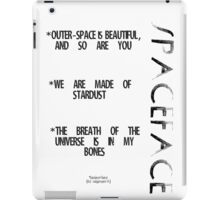 Spaceface Slogan - Spaceface Collection iPad Case/Skin