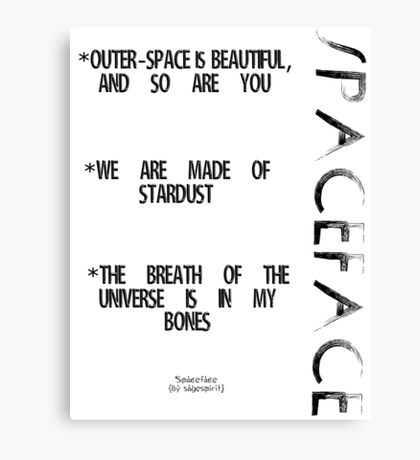 Spaceface Slogan - Spaceface Collection Canvas Print