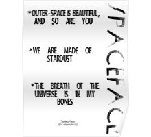 Spaceface Slogan - Spaceface Collection Poster