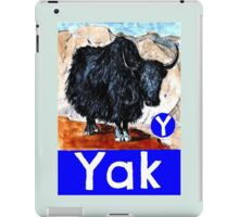 Y is for Yak iPad Case/Skin