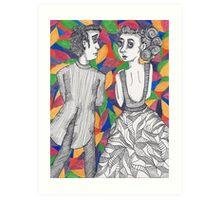 Shoulder Lookers Art Print